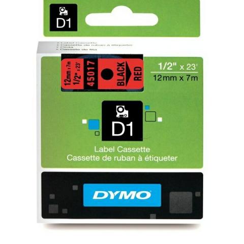 Dymo DYMO Schriftband D1 45017 schwarz , rot