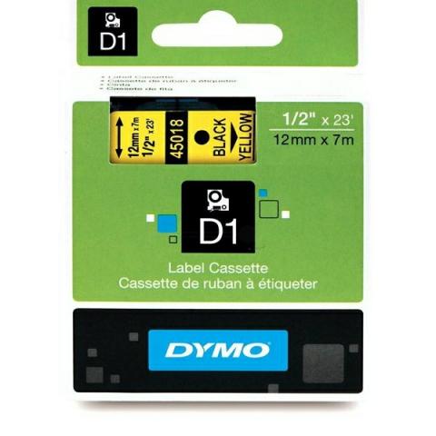 Dymo DYMO Schriftband D1 45018 schwarz , gelb