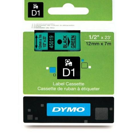 Dymo DYMO Schriftband D1 45019 schwarz , grün