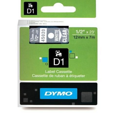 Dymo DYMO Schriftband D1 45020 weiß ,