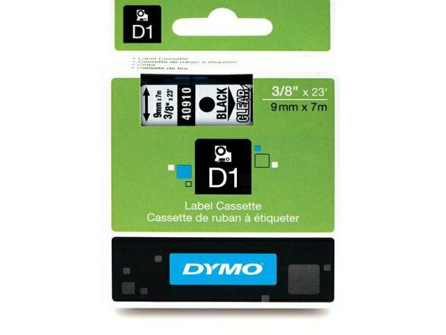 DYMO Schriftband D1 40910 schwarz / transparent