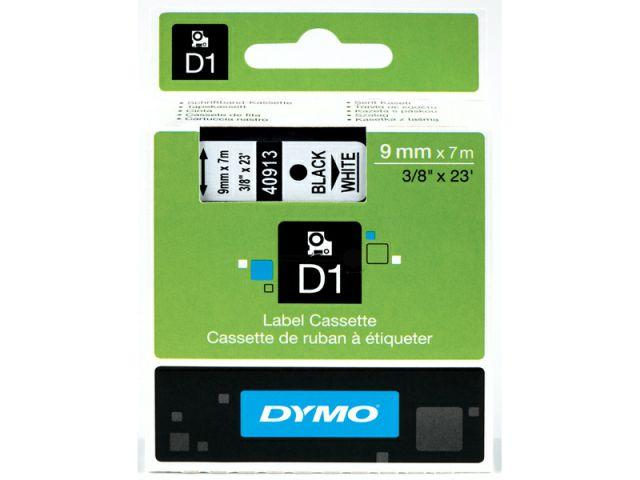 DYMO Schriftband D1 40913 schwarz / weiß