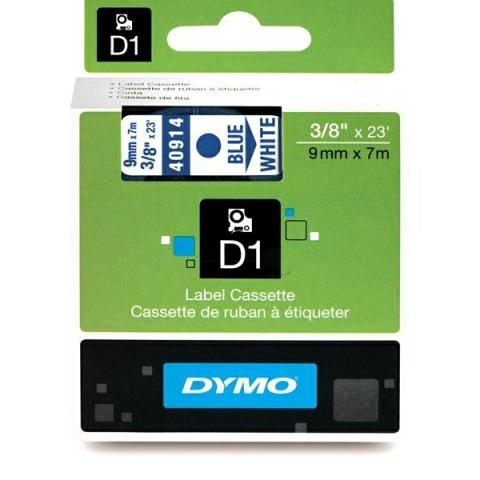 Dymo DYMO Schriftband D1 40914 blau , weiß
