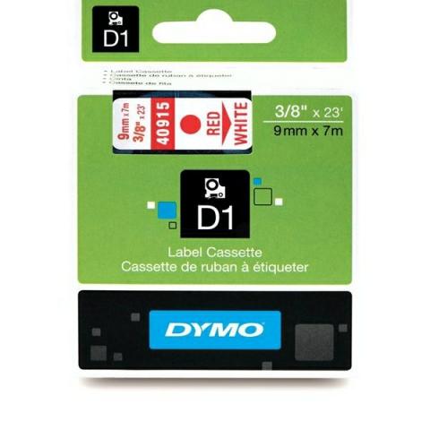 Dymo DYMO Schriftband D1 40915 rot , weiß