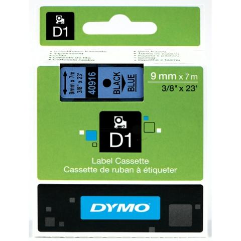 Dymo DYMO Schriftband D1 40916 schwarz , blau