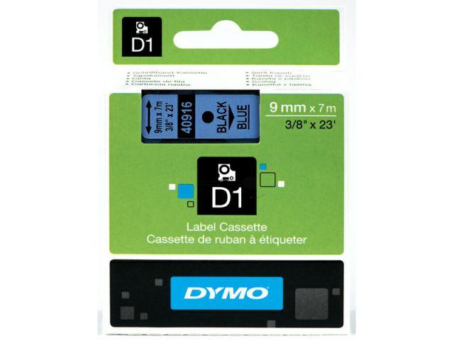 DYMO Schriftband D1 40916 schwarz / blau