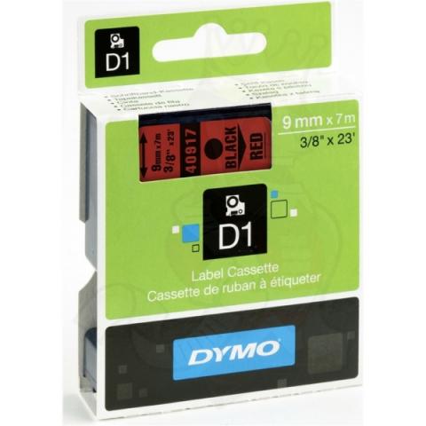 Dymo DYMO Schriftband D1 40917 schwarz , rot