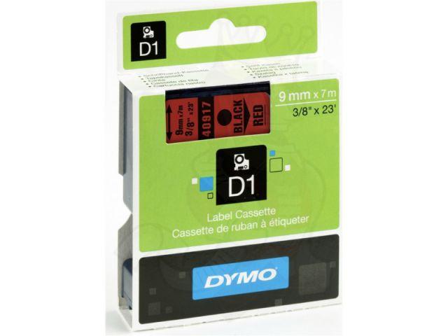 DYMO Schriftband D1 40917 schwarz / rot