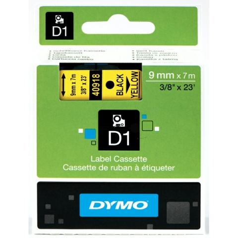 Dymo DYMO Schriftband D1 40918 schwarz , gelb