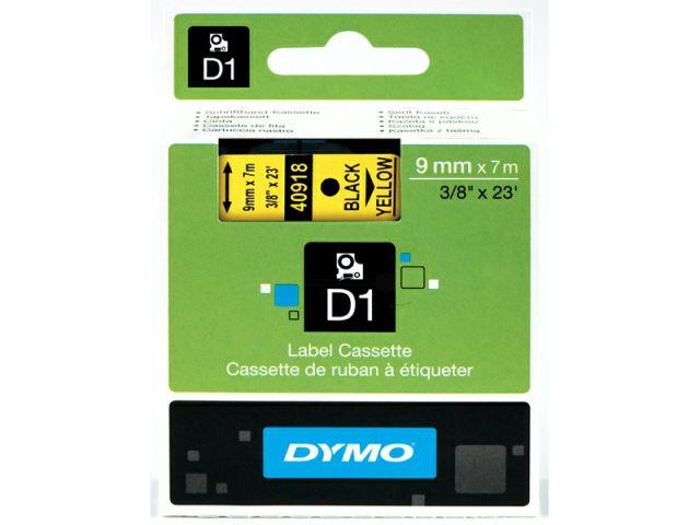 DYMO Schriftband D1 40918 schwarz / gelb