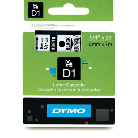 Dymo DYMO Schriftband D1 43610 schwarz ,