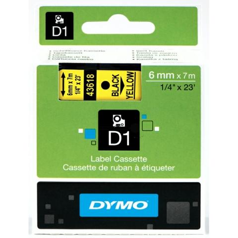 Dymo DYMO Schriftband D1 43618 schwarz , gelb