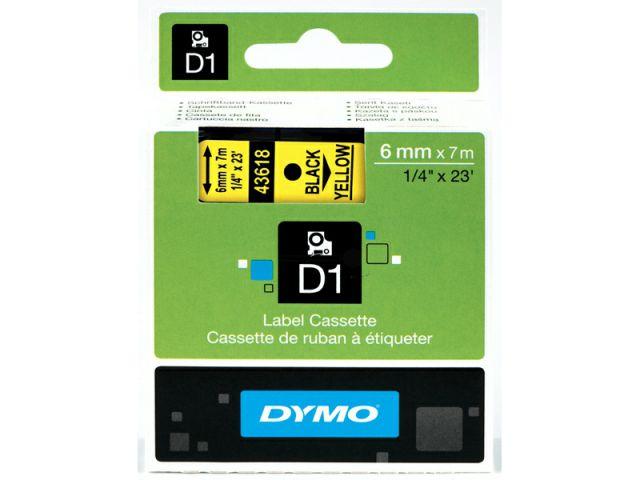 DYMO Schriftband D1 43618 schwarz / gelb