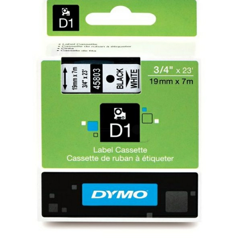 Dymo DYMO Schriftband D1 45803 schwarz , weiß