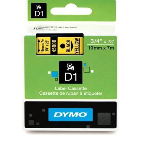Dymo DYMO Schriftband D1 45808 schwarz , gelb