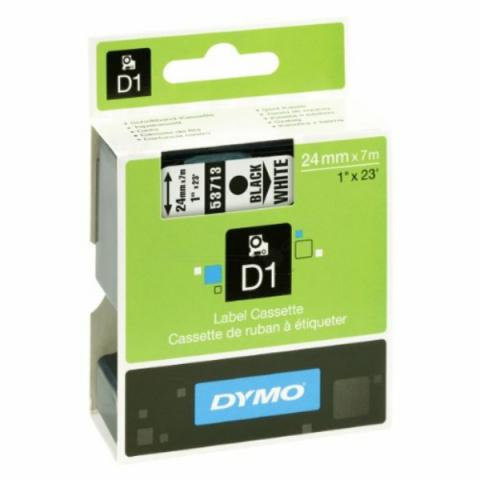Dymo DYMO Schriftband D1 53713 schwarz , weiß
