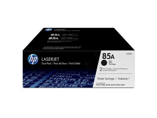 CE285AD HP LJ P1002 Toner Doppelpack 2x1600 Seiten ISO / IEC19752 black