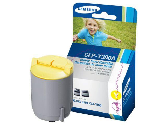 CLP-Y300A original Toner für ca. 1000 Seiten für Samsung CLP 300 / CLP300N / CLX2160 /