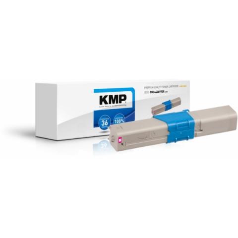 KMP Toner, recycelt, ersetzt 44469705 für Oki