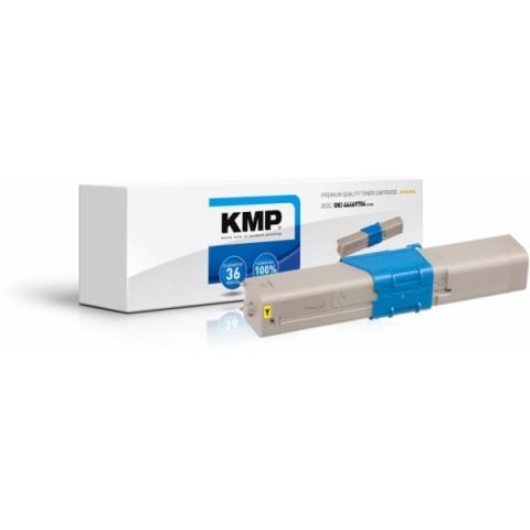 KMP Toner, recycelt, ersetzt 44469704 für Oki