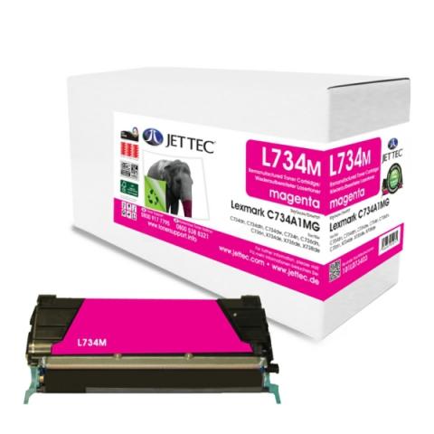 Jettec Toner, recycelt, ersetzt original Lexmark