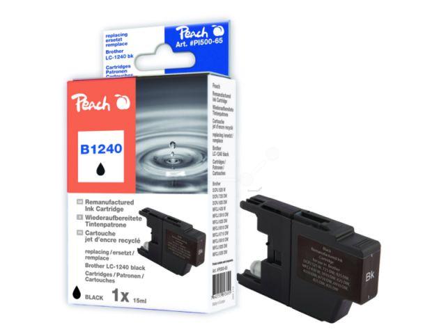 Recycelte Tintenpatrone LC-1240BK, für DCP 525 / 725 / 925 / MFC-J 6510 / 6710 / 6910 / 825 /