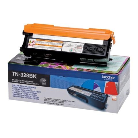 Brother TN-328BK Toner für für ca. 6000 Seiten