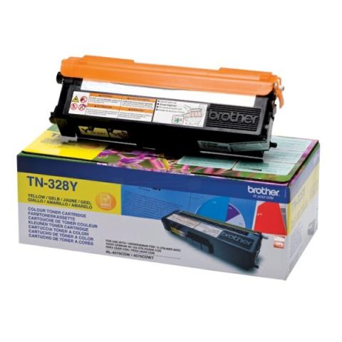 Brother TN-328Y Toner für für ca. 6000 Seiten