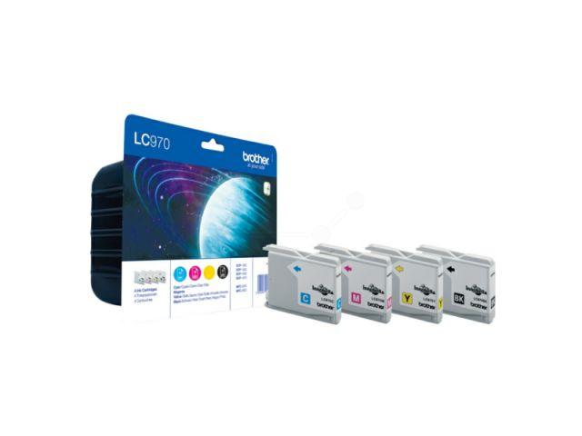 Brother Multipack LC970VALBP ersetzt Brother LC-970 mit 1x 350 Seiten und 3 x 300 Seiten Inhalt,