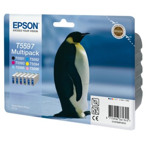 Epson C13T55974010 Multipack Tintenpatronen , 6