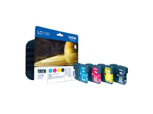 Brother Multipack mit Innobella Druckertinte mit 1x 12.1 ml und 3 x 5,5 ml Inhalt, color und
