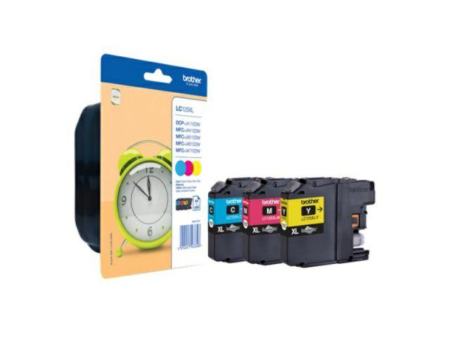 Rainbow Pack Originalpatronen Brother, XL-Kapazität für ca. 1.200 Seiten je Farbe ( C / M / Y ),