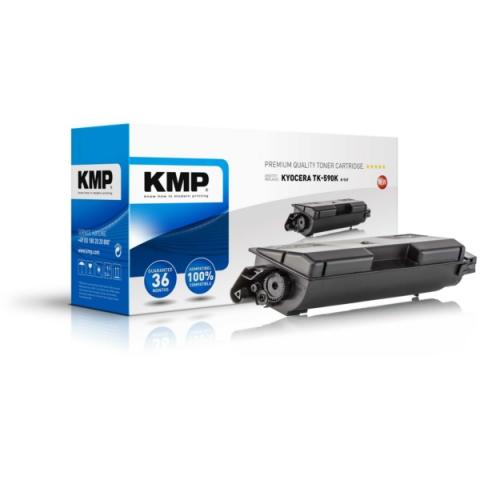 KMP Toner, recycelt, ersetzt TK590K XXL f�r ca.