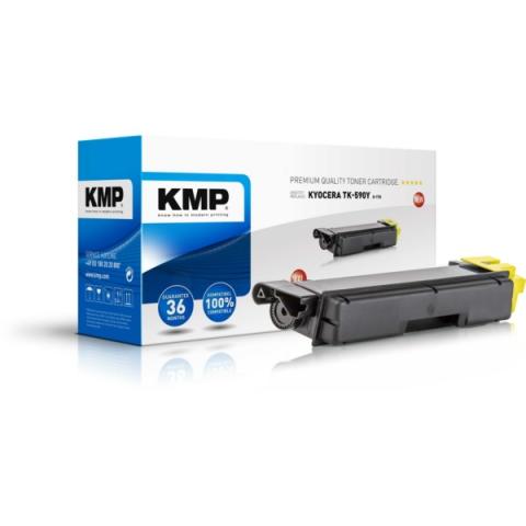 KMP Toner, recycelt, ersetzt TK590Y XXL für ca.