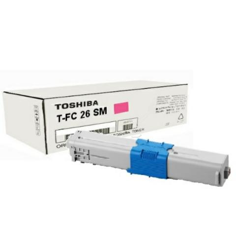 Toshiba T-FC26SM Toner, original , Reichweite