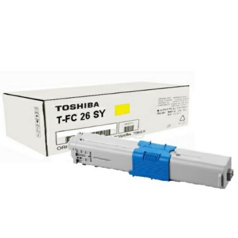 Toshiba T-FC26SY Toner, original , Reichweite
