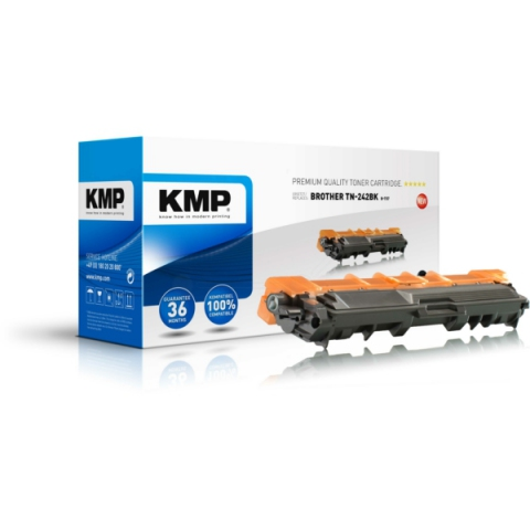 KMP Toner, rebuild, ersetzt TN242BK für Brother