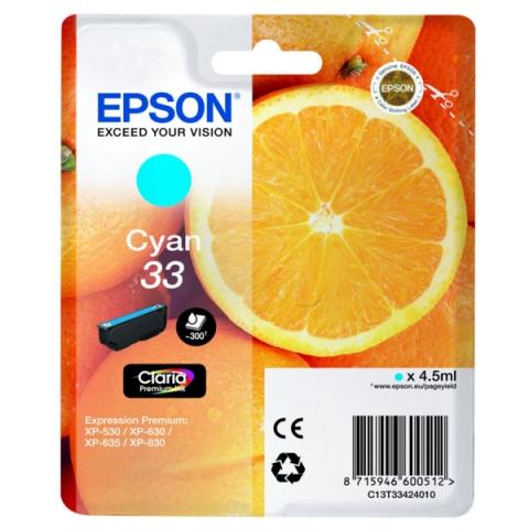 Epson C13T33424010 original Druckerpatrone für