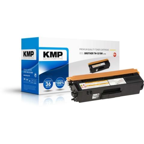 KMP Toner, recycelt, ersetzt TN321BK für Brother