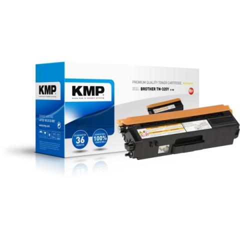 KMP Toner, recycelt, ersetzt TN320Y für Brother