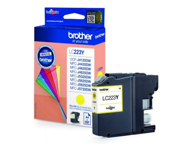 LC223Y original Druckerpatrone mit einer Kapazität von für ca. 550 Seiten nach ISO / IEC 24711,