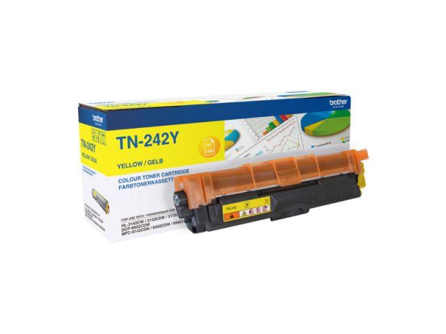 TN-242Y Toner Brother, f�r ca. 1.400 Seiten, yellow