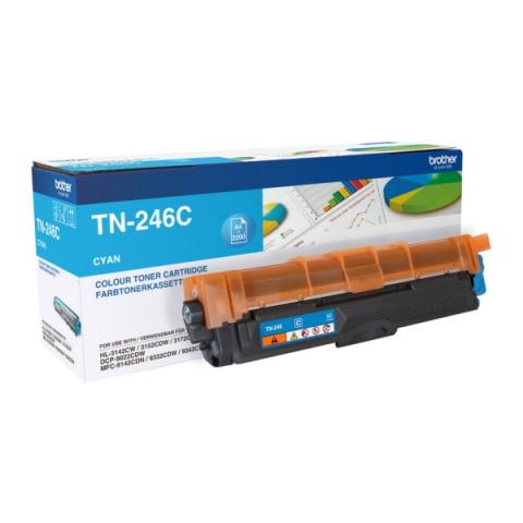 Brother TN-246C Toner , f�r ca. 2.200 Seiten,