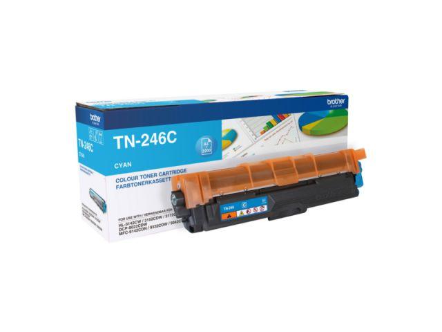 TN-246C Toner Brother, f�r ca. 2.200 Seiten, cyan