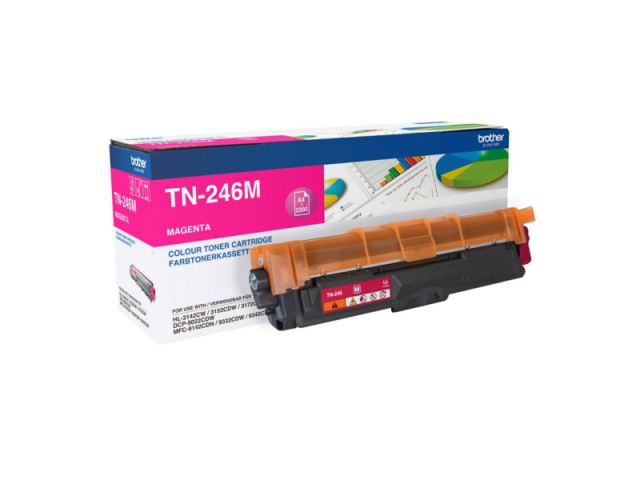 TN-246M Toner Brother, f�r ca. 2.200 Seiten, magenta