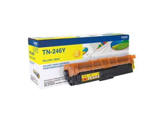 TN-246Y Toner Brother, f�r ca. 2.200 Seiten, yellow