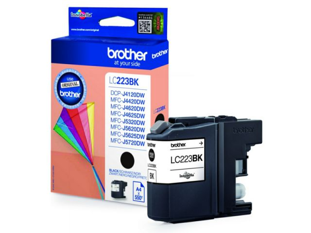 LC223BK original Druckerpatrone mit einer Kapazität von für ca. 550 Seiten nach ISO / IEC 24711,