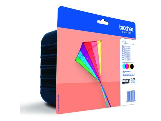 Druckerpatronen Multipack von Brother für ca. 4 x 550 Seiten, schwarz + color
