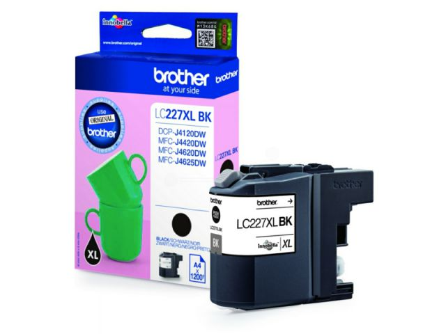 LC227XLBk original Druckerpatrone mit 25ml für ca. 1.200 Seiten nach ISO / IEC 24711, schwarz