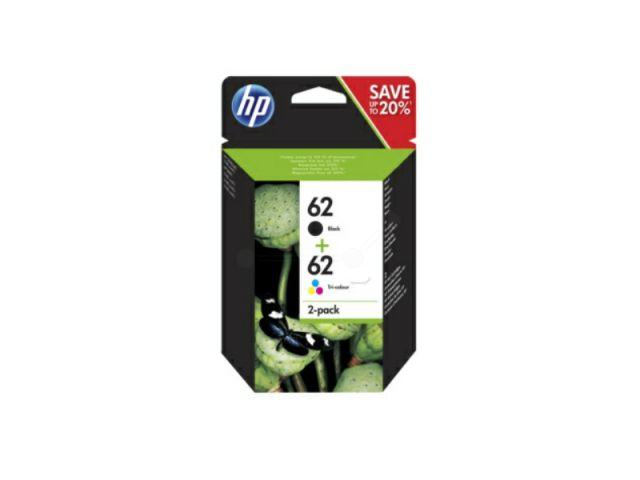N9J71AE Multipack Druckerpatronen HP 62 (1x C2P04AE und 1x C2P06AE), schwarz und color